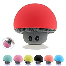SUNMENCO Six Colors Mini Bluetooth Speaker Suction Cup Phone Holder Portable Stereo Speakers Wireless Music Player Built-in Lithium Battery and Mic Hands-free for iphone ipad Android Phones Laptop