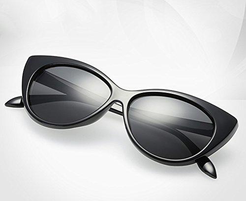 Soleil avec Soleil Lunettes Oeil de Femmes Chat UV400 Couleur Mode Qingsun Lunettes Grande Protection Cat A de Rétro de Super Cadre zqwZ0C