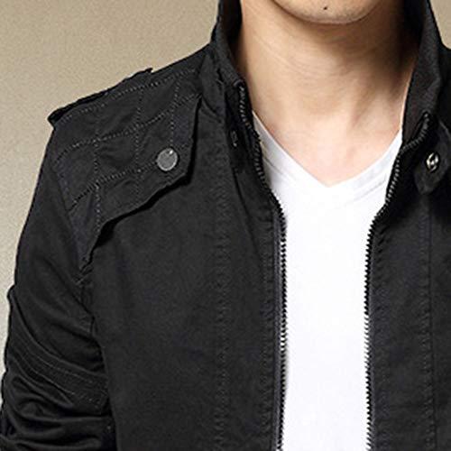 Youthny Loisir Manches Epaisse Homme Longues Fit Chaud Automne Blouson Noir Veste Hiver Fashion Slim Top Zippé wrqwCWz4