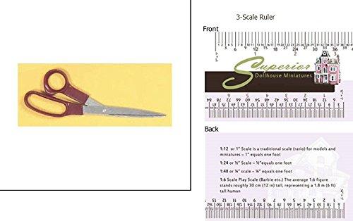 Superior Dollhouse Miniatures 8in Scissors