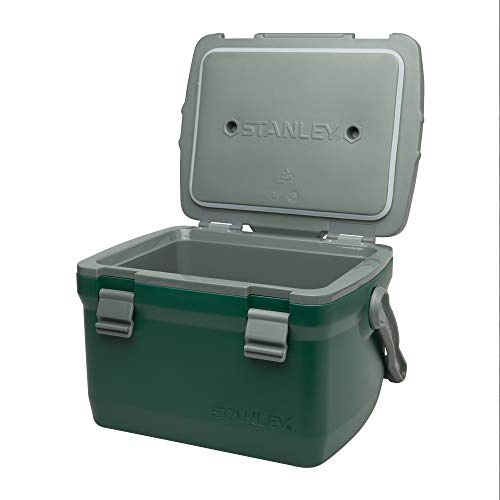 Stanley Adventure Leakproof Outdoor 7qt, 10qt, 16qt Cooler - Double Wall Foam Travel Insulated BPA Free Chest Cooler - Heavy Duty Camping Cooler with Flat Top Doubles as Seat
