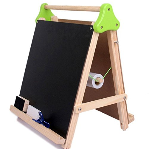 Gracefulvara Double Sided Adjustable Kids Easel Drawing Board With Paper Roll and Accessories by Gracefulvara