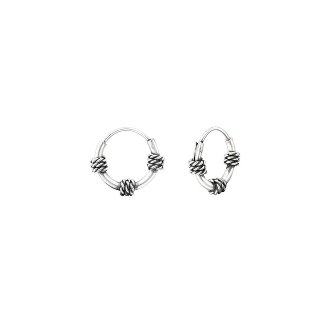 Polished And Nickel Free 10mm Bali Hoops 925 Sterling Silver Liara