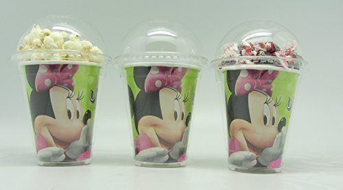 Set of 8 - Minnie Mouse Party Cups, Popcorn Cups, Goody Bags, Favor Boxes by Neon