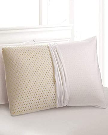 Natural Talalay Latex Pillow with Organic Cotton Cover|2 Pack|Standard|Queen|Kin