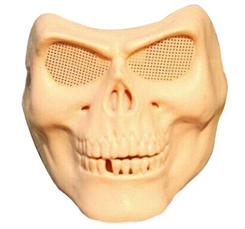 Halloween Costumes Skull Masks Retro Imitation Metal Terror Masks Half Face by (Halloween Half Painted Faces)