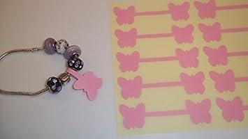 200 de tamaño grande con bordado rosa las joyas en forma de/de mariposas en