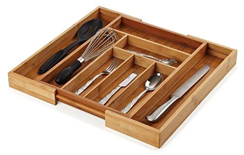 Organic Bamboo Extendable Drawer, Heim Concept Expandable an