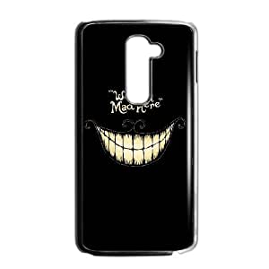 LG G2 Cell Phone Case for Classic Theme lovely Cheshire Cat in Wonderland Cartoon pattern design GLYCCIW94169