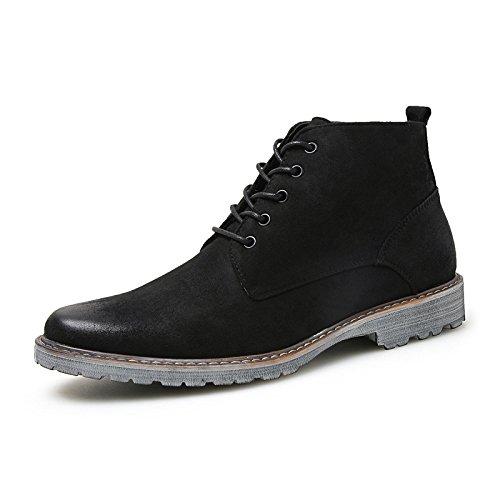 NBWE Herren Stiefel Wildleder Martin Stiefel Outdoor Sneakers für Männer black