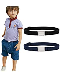 2 Pack Kids Adjustable Magnetic Belt Boys Girls Elastic Belt with Easy Magnetic Buckle By XZQQTIVE