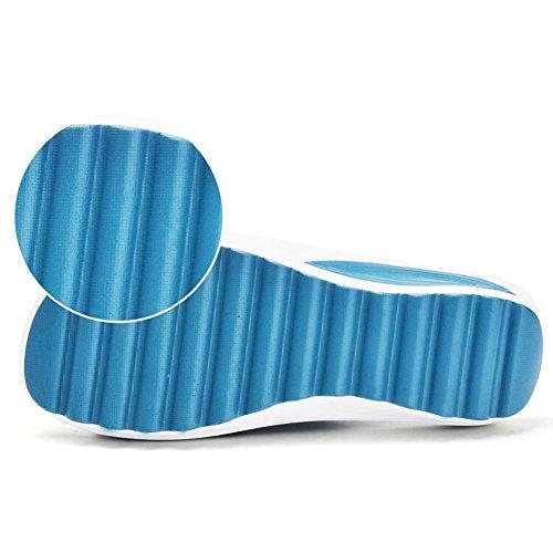 Sandalen L@YC Frauen Sommer Sommer 2017 anti-Skid Hausschuhe Hausschuhe Mit Outdoor Dicken Flachen Boden Sandalen , blue , 37