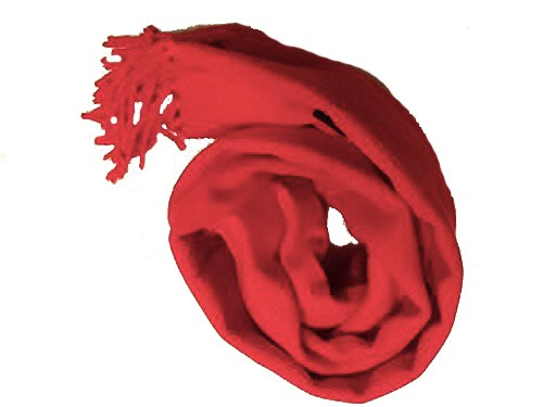 (RED SCARF: Super Soft Luxurious Cashmere Feel Scarf 70