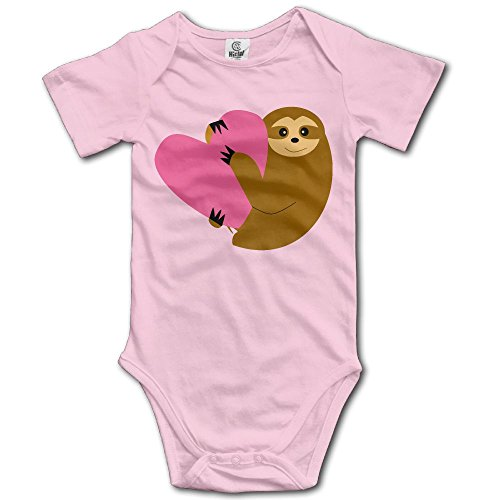 Sloth in Love Creeper Jumpsuits Short Sleeve Baby