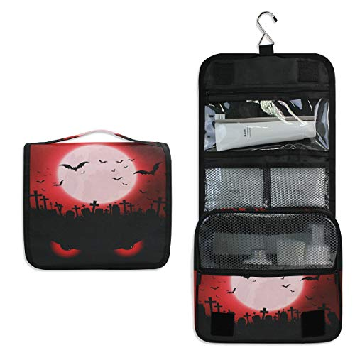 Makeup Bag,Halloween With Evil Eyes Super Funny 3D Printing women cosmetic bag Multifuncition Pencil Holder ()