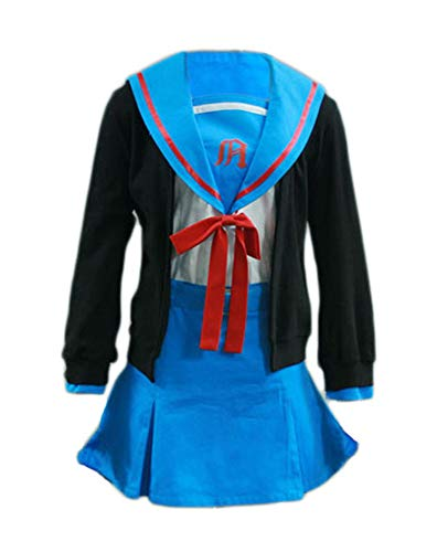 Chong Seng CHIUS Cosplay Costume Winter School Uniform for Nagato Yuki Version 1