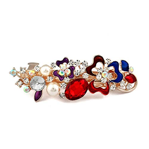 MOPOLIS Vintage Women Girls Flower Pearl Hair Clips Barrettes Hairpin Hair Accessories | Color - Multicolor