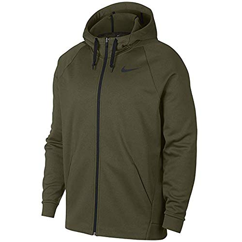 Therma Fit Jacket - Nike Men's Dri-FIT Therma Full-Zip Training Hoodie, Olive Green, Large