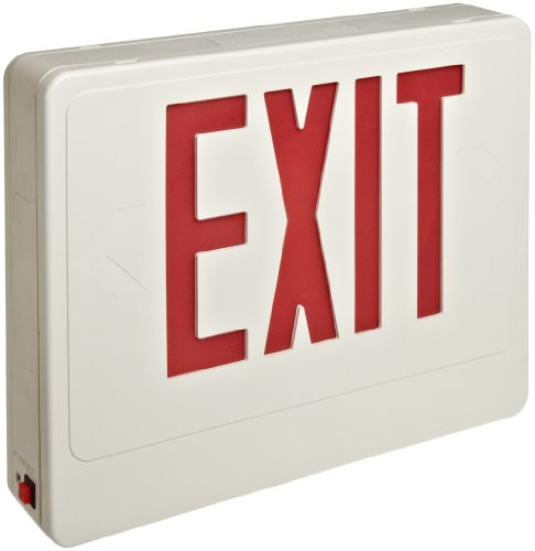 (Morris Products LED Exit Sign - Remote Capable - Red With White Housing - Battery Backup - Automatic, Low Voltage Disconnect - Compact, Low-Profile Design -Energy Saving, High Output - 1 Count)