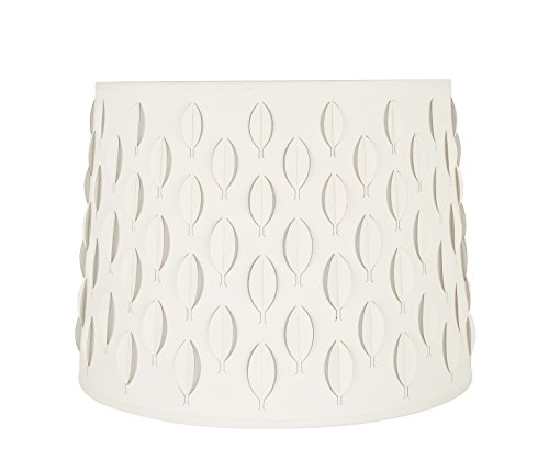 Aspen Creative 39301 Transitional Empire Laser Cut Shaped Spider Construction Lamp Shade in Off-White, 16