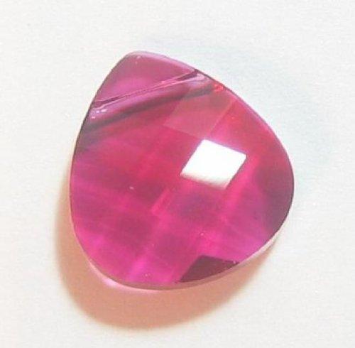 1 pc Swarovski Crystal 6012 Briolette Charm Pendant Ruby 11mm / Findings / Crystallized Element