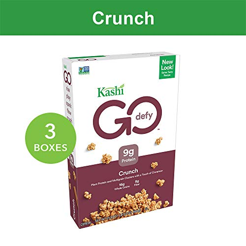 Kashi GO Crunch Breakfast Cereal - Non-GMO | Vegetarian | Bulk Cereal 21.3 Oz Box (Pack of 3 Boxes)