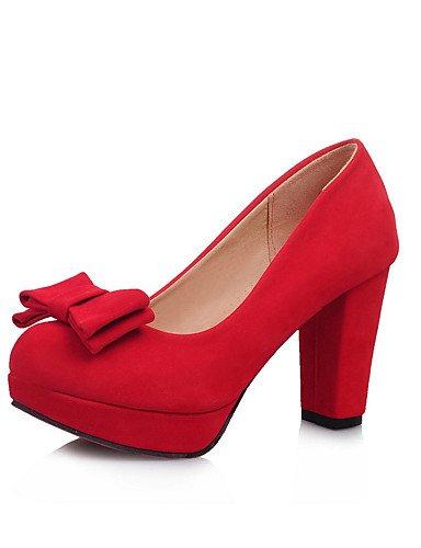 negro us3 Red Mujer tacones Ggx Casual Uk8 Redonda 5 Cn32 Y oficina Robusto Black Eu42 Rojo tacón Punta Cn43 Trabajo Beige Uk1 vellón Vestido us10 tacones 5 5 5 Eu33 SAaxqaOd
