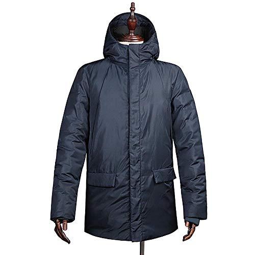 Moda De Casual WUYEA La Chaqueta con Moda Frío Clima Capucha Invierno Ideal Los Blue De Abrigo De XL En De Hombres Chaquetas nqwpqAZzFx