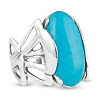Relios Sterling Silver Blue Turquoise Statement Ring from Relios