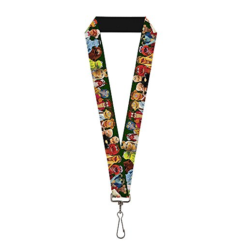 Buckle-Down Lanyard - Muppets 20-Character Group Pose Greens