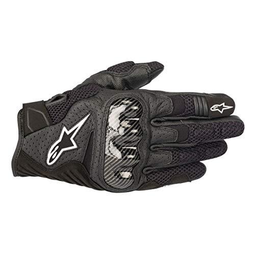 Air Carbon Motorcycle Gloves - Alpinestars SMX-1 Air V2 Leather/Textile Motorcycle Gloves - Black/Carbon Fiber - Medium