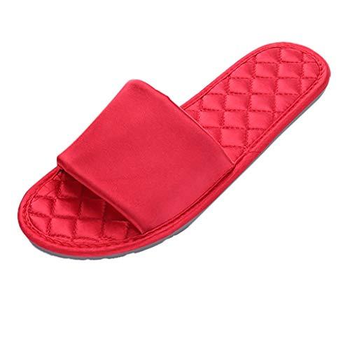 Mysky Fashion Women Brief Soft Sole Home Bathroom Slippers Ladies Classic Pure Color Slides Beach Shoe