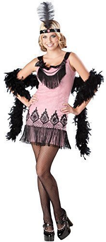 Teenage Girls 1920s Flapper Girl Charleston Dancer Halloween Fancy Dress Costume Outfit 12-17 years (14-15 years) ()