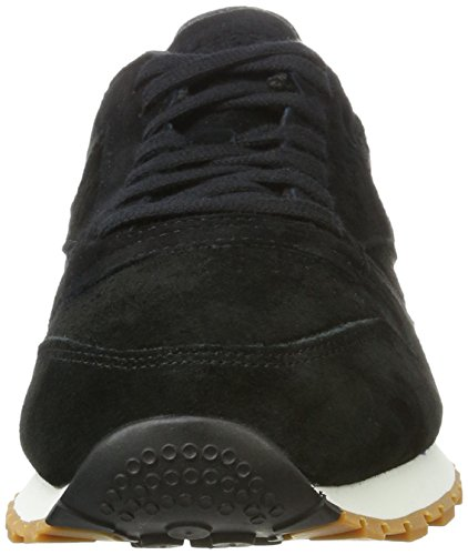 Reebok Leather Basses Chalk Classic Sneakers gum Noir Homme Black SG wqIqrF5