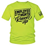 Armed American Supply Employee of The Month Runner Up - Hi Vis/Hi Viz Funny Construction Safety Work Shirt (MD)