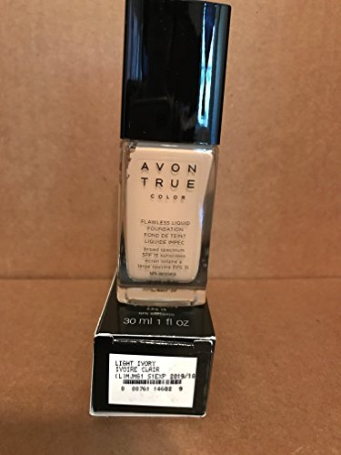 - Avon TRUE Color Ideal Flawless Liquid Foundation broad spectrum SPF 15 sunscreen LIGHT IVORY