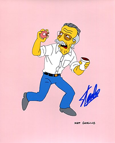 Stan Lee Simpsons Signed / Autographed 8x10 Glossy Photo. Includes Fanexpo Certificate of Authenticity and Proof of signing. Entertainment Autograph Original. Thor, Iron Man, Hulk, Wasp, Ant Man