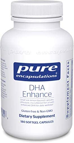 Pure Encapsulations - DHA Enhance - Children's Lemon-Flavored Microfiltered Fish Oil with Enhanced DHA - 180 Softgel Capsules