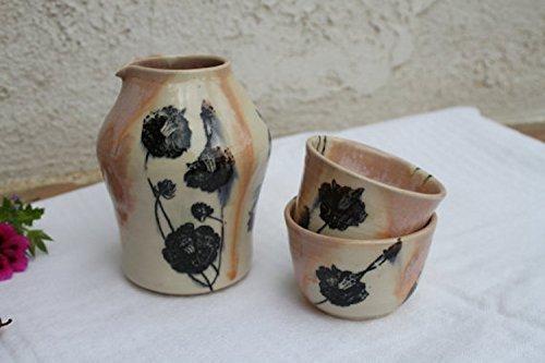 Pitcher and cup set, handmade ceramic dinnerware (Set Marina Dining)