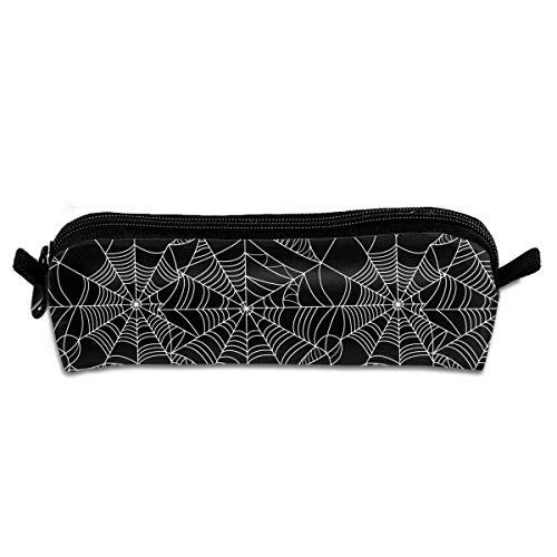 FSXIK Halloween Spider Web Novelty Women Colored Cosmetic Bag Zipper Single Layer Travel Storage Makeup Bags Purse -