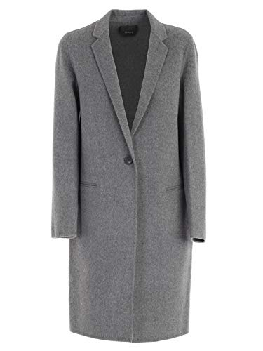 Theory Womens Fall Cashmere Wool Coat Gray S