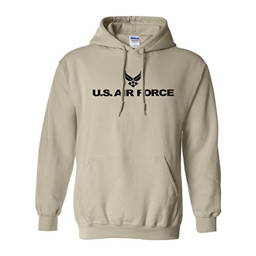 zerogravitee Air Force Hooded Sweatshirt in Sand - (Air Force Hooded Sweatshirt)