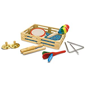 Melissa & Doug Personalized Band In A Box Clap! Clang! Tap! 10Piece Musical Instrument Toy