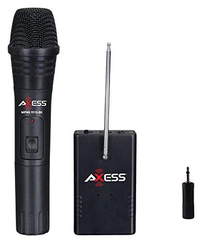AXESS MPWL1512 Handheld 150 Foot Long Range Wireless Microphone with One Microphone (Long Range Handheld)