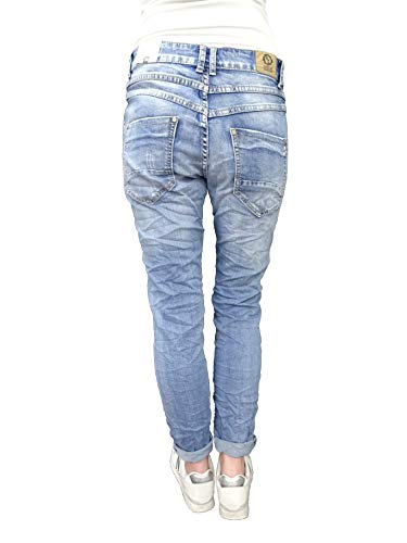 Colores Más Denim Destroyed De Cierre Stretch Botones By Lexxury Boyfriend 4 Baggy jeans boyfriend Karostar Abierta Oq6aSW