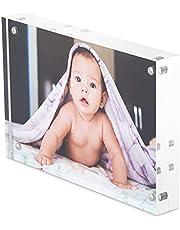 6 x 4 Acrylic Photo Frame / Block, Free Standing, Use Horizontally or Vertically
