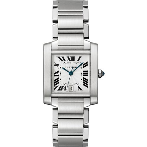 Cartier Men's W51002Q3 Tank Francaise Stainless Steel Automatic Watch