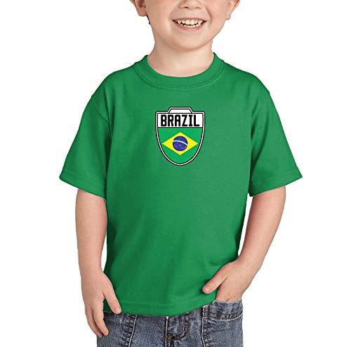 HAASE UNLIMITED Brasil Brazil Brazilian - Soccer T-Shirt (Kelly Green, 5T) ()