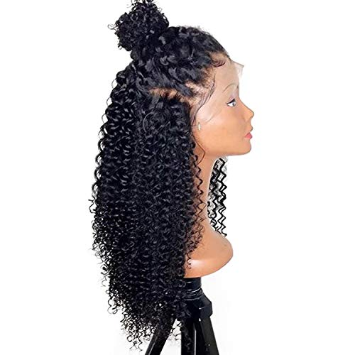 180% Density Lace Frontal Curly Wigs With Baby Hair Plucked Hairline Front Lace Wig Hair,12inches,250density -