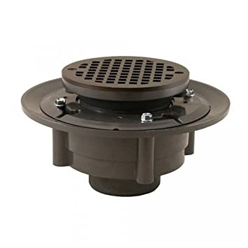 2 Inch X 3 Inch Oil Rubbed Bronze Heavy Duty Shower Drain With 5 Inch Round
